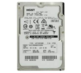 "Hitachi Ultrastar C15K600 HUC156060CS4204 4Kn 600GB SAS 12Gpbs 15K RPM 2.5"" ÚJ"