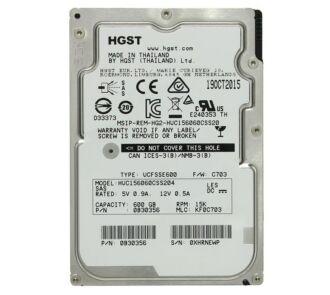 "Hitachi Ultrastar C15K600 HUC156060CS4204 4Kn 600GB SAS 12Gpbs 15K RPM 2.5"" ÚJ"